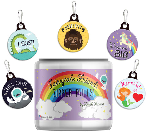 Fairytale Friends Zipper Pulls