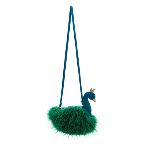 Fluffy Fancy Peacock Bag