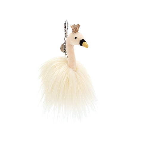 Fluffy Fancy Swan Bag Charm
