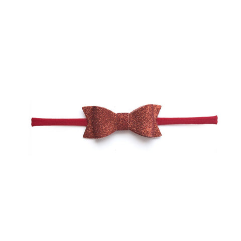 Glitter Bow Tie Skinny Red
