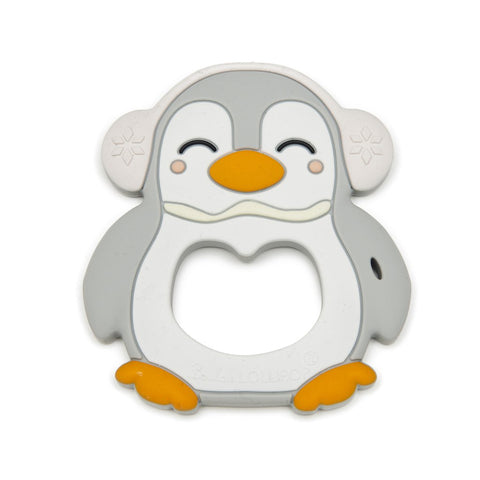 Gray Penguin Silicone Teether