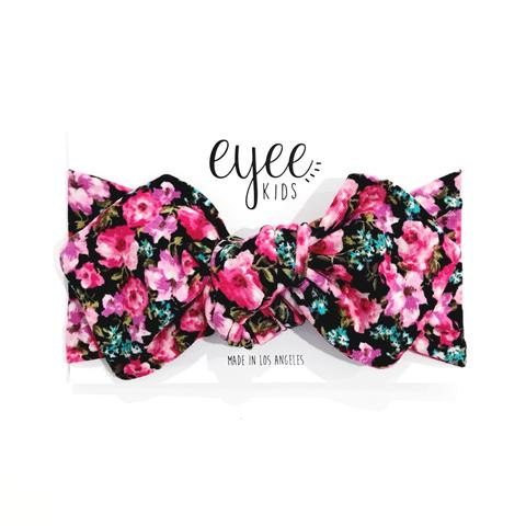 Top Knot Headband - Pink Floral