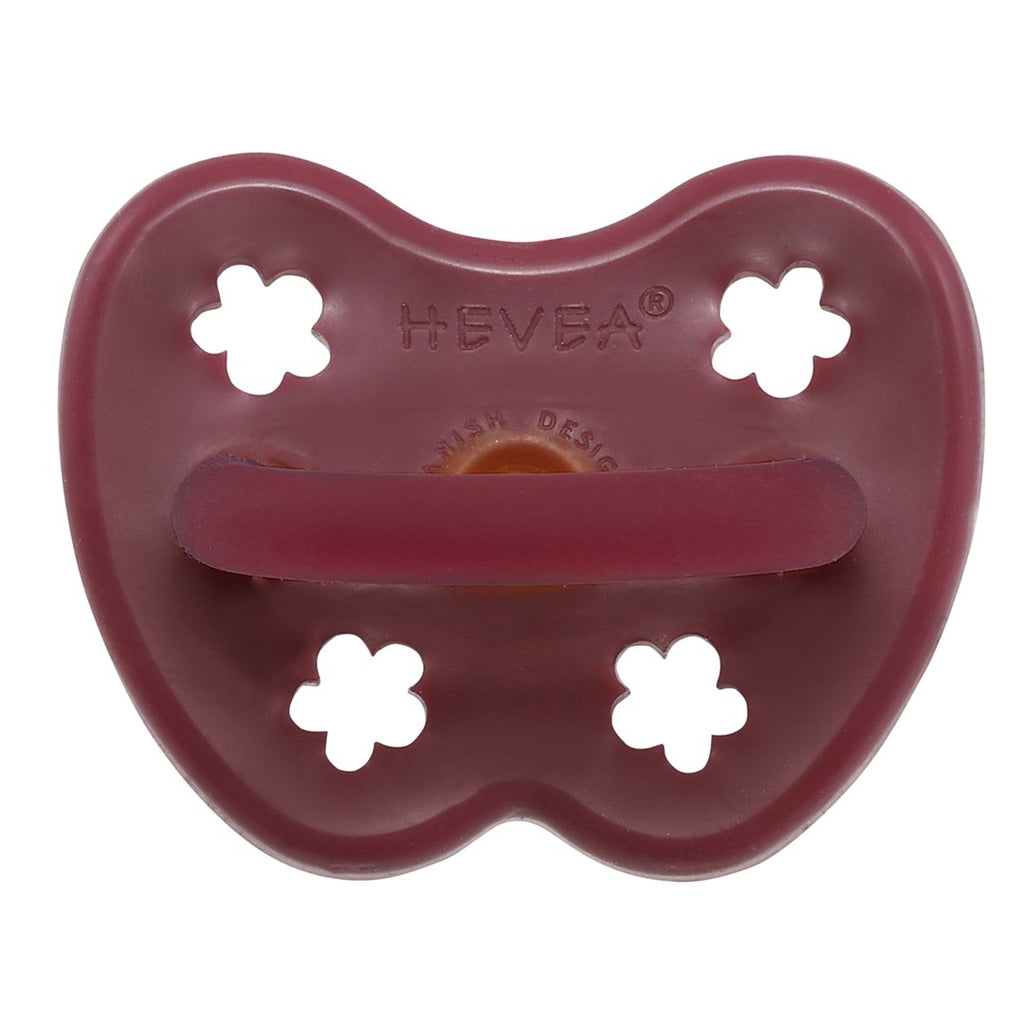 Hevea Pacifier Ruby Red ROUND Rubber