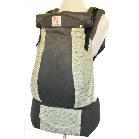 MJ Baby Carriers Hidden Panda on Graphite Fresh Mesh - Lil Tulips - 1