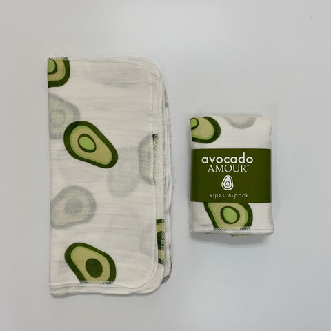 SECONDS Avocado Amour WIPES 6 Pack