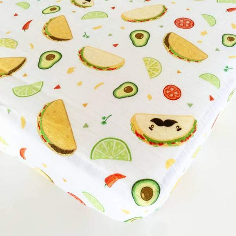 LUXE FITTED CRIB SHEET - TACOS