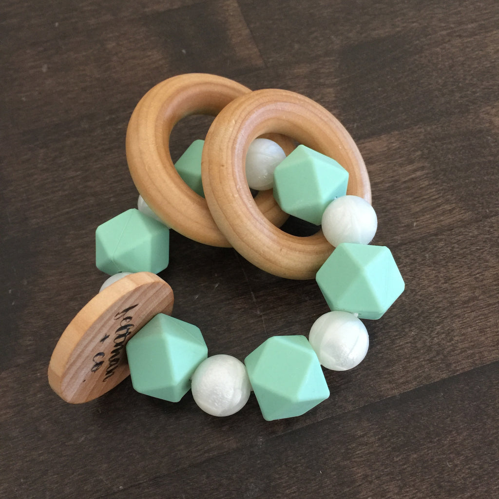 Mint White Pearl Teether