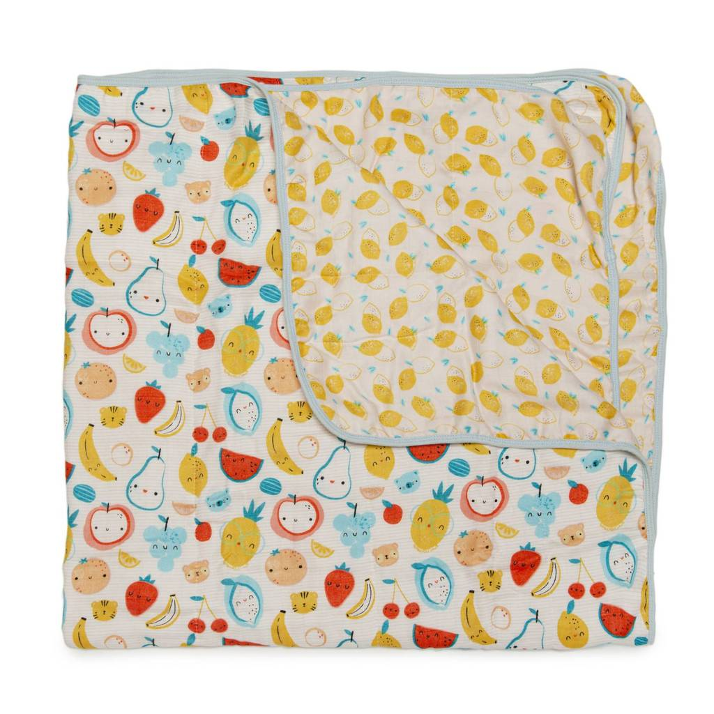 Muslin Quilt Blanket - Cutie Fruits