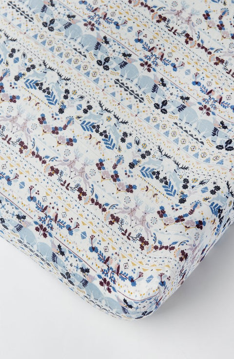 Fitted Crib Sheet - Fair Isle