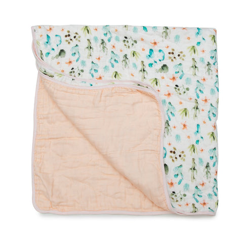 Cactus Floral Luxe Muslin Quilt