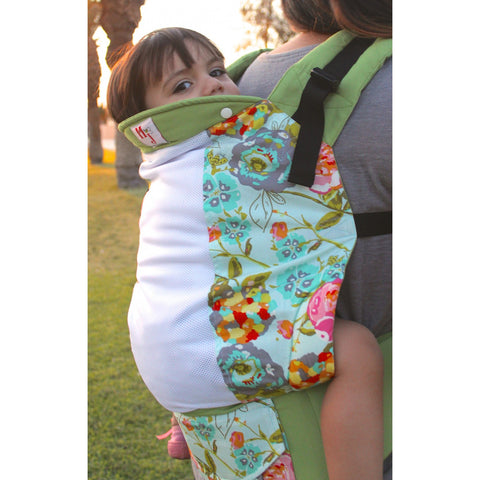 MJ Baby Carriers Standard Lime Bloom on Fresh Mesh - Lil Tulips - 1