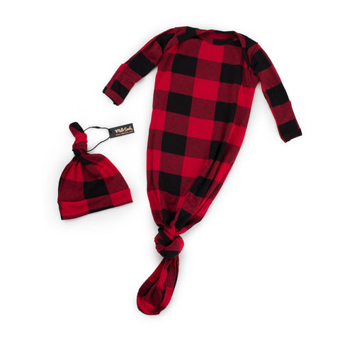 Knotted Hat + Gown Set LUMBERJACK