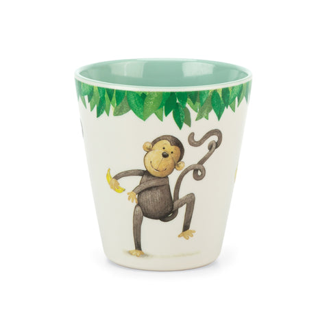 Mattie's Twirly Whirly Tail Monkey Melamine Cup
