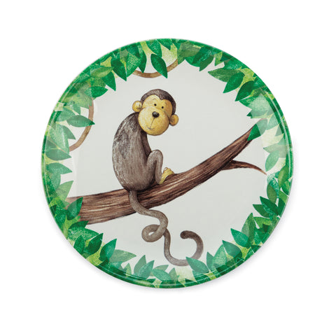 Mattie's Twirly Whirly Tail Monkey Melamine Plate