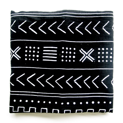Mudcloth Black Swaddle