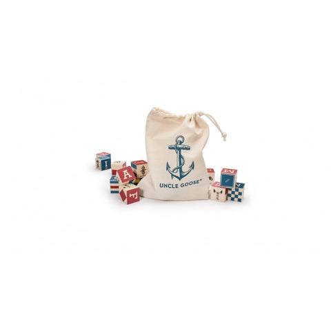 Nautical ABC Blocks with Bag - Lil Tulips - 1