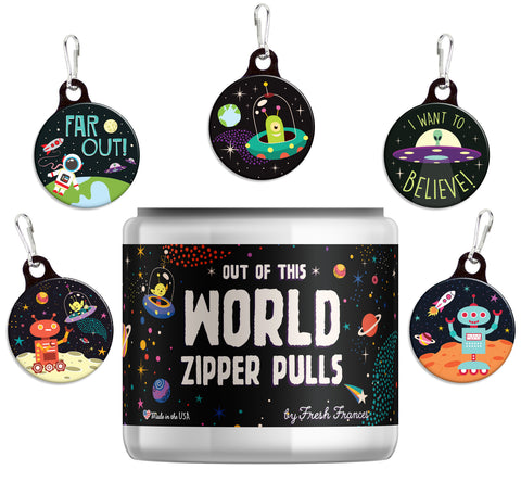 Out of this World Zipper Pulls