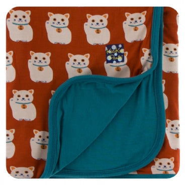 Lucky Cat Stroller Blanket