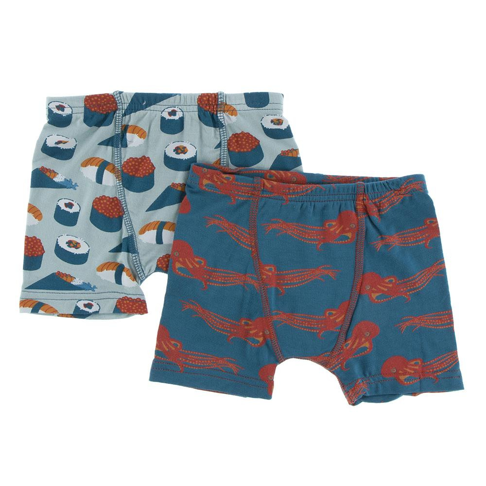 Jade Sushi and Oasis Octopus Boxer Briefs