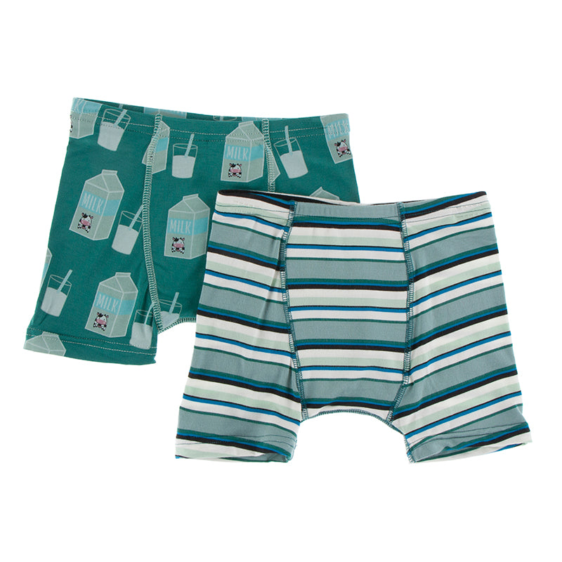 Ivy Milk & Multi Agriculture Stripe Boxer Briefs Set