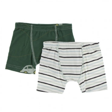 Topiary Italian Car and Tuscan Afternoon Stripe Boxer Briefs Set