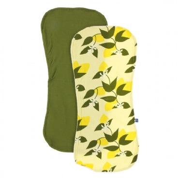 Lime Blossom Lemon Tree and Pesto Burp Cloth Set