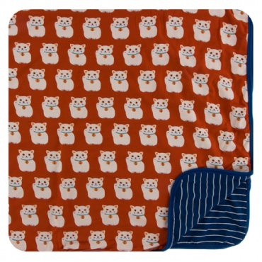 Lucky Cat Toddler Blanket