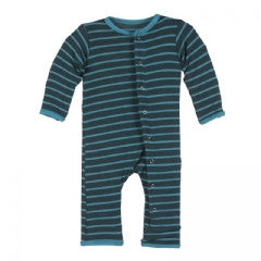 KicKee Pants Tundra Stripe Fitted Coverall