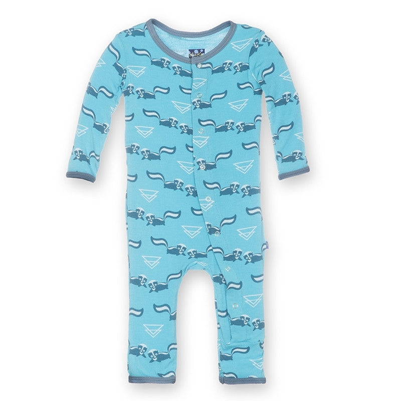 KicKee Pants Confetti Skunk Fitted Coverall