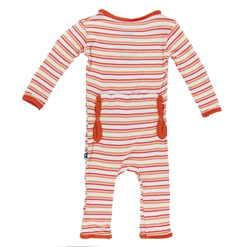 Girl Freshwater Stripe Fitted Coverall