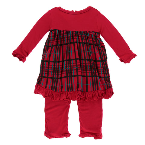 f79e5ff55f50 Christmas Plaid Long Sleeve Dress Romper