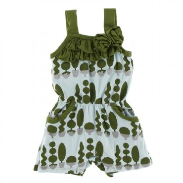 Spring Sky Villa Garden Romper with Pockets