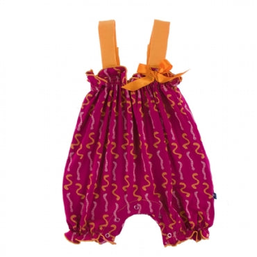 Rhododendron Worms Gathered Romper with Bow