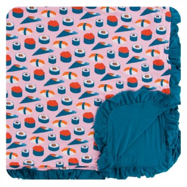 Lotus Sushi Ruffle Toddler Blanket