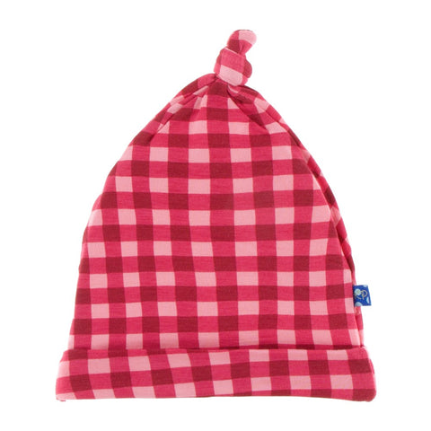 Flag Red Gingham Knot Hat