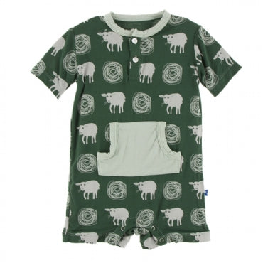 Topiary Tuscan Sheep Kangaroo Romper