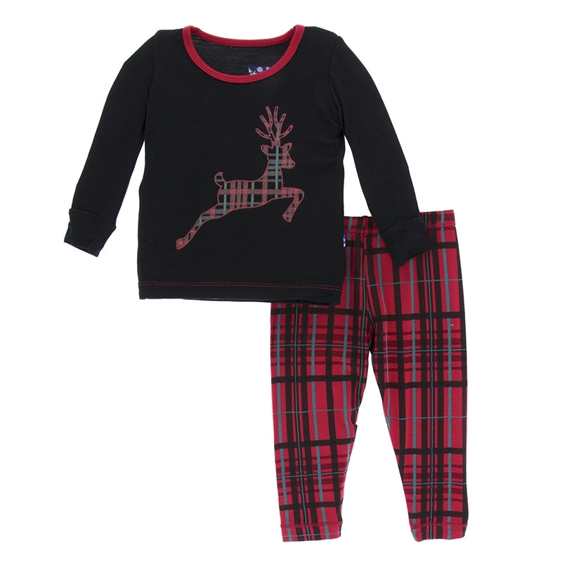 Christmas Plaid Long Sleeve Pajama Set