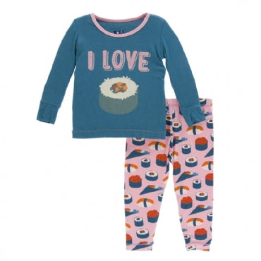Lotus Sushi Long Sleeve Pajama Set