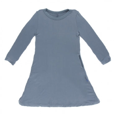 Dusty Sky Long Sleeve Tee Shirt Dress