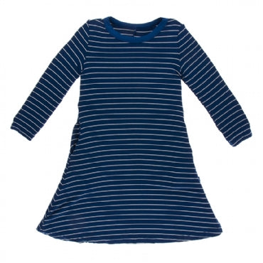 Tokyo Navy Stripe Long Sleeve Tee Shirt Dress