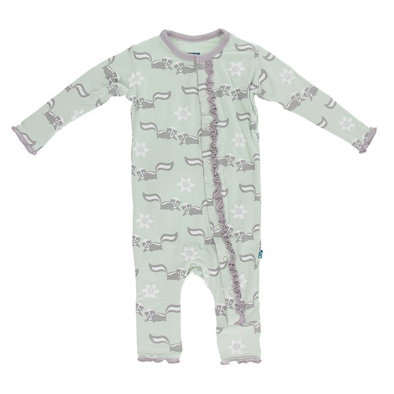 KicKee Pants Aloe Skunk Ruffle Coverall