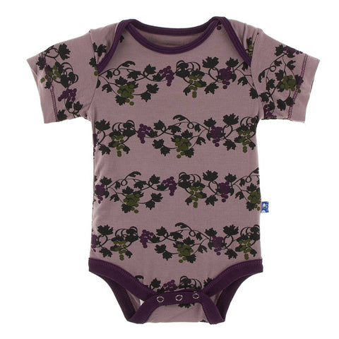 Raisin Grape Vines Short Sleeve One Piece