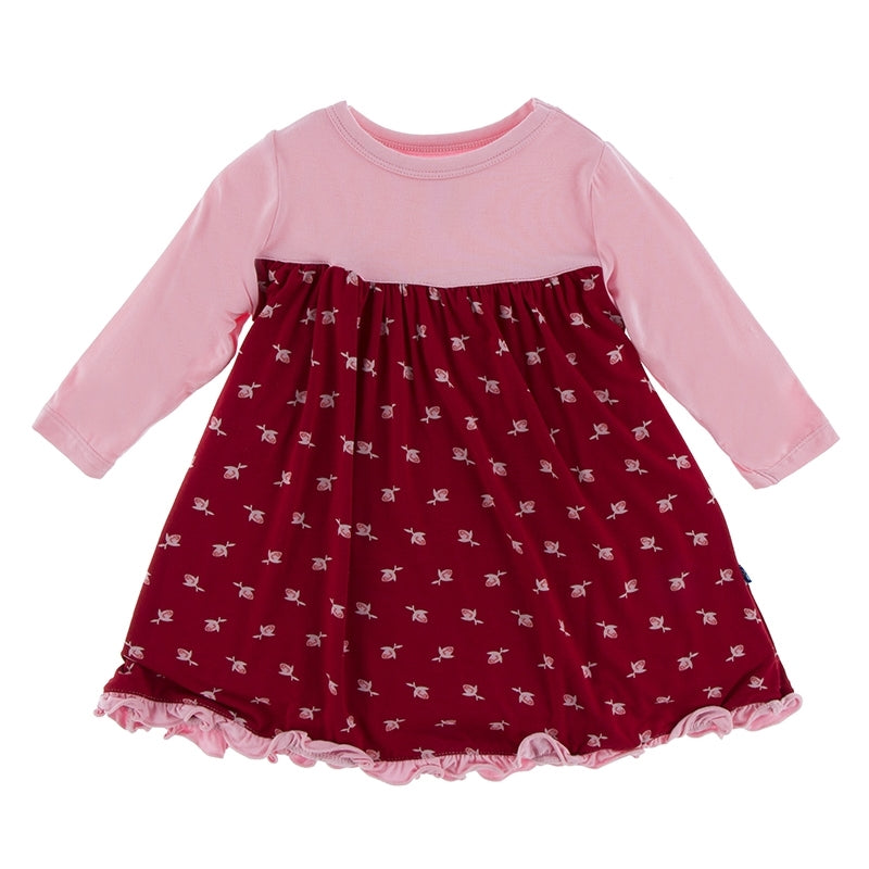 Candy Apple Rose Bud Swing Dress