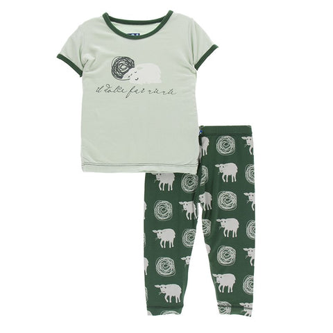 Topiary Tuscan Sheep Short Sleeve Pajama Set
