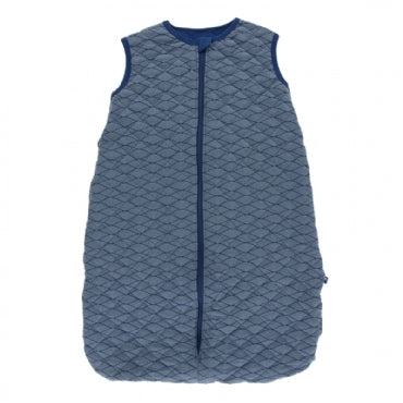 Dusty Sky Tides with Navy Quilted Sleeping Bag