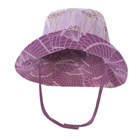 Print Reversible Bucket Hat  Cooksonia with Shells Fossils - 6-12 Months