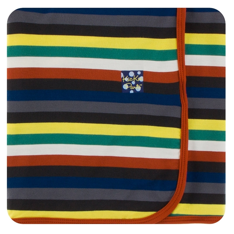 Dark London Stripe Swaddling Blanket
