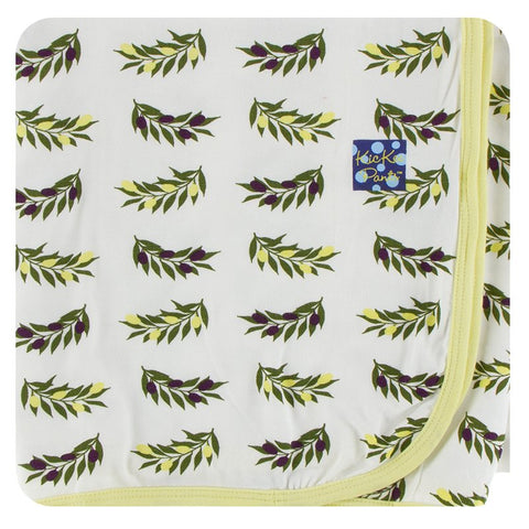 Natural Olive Branch Swaddling Blanket