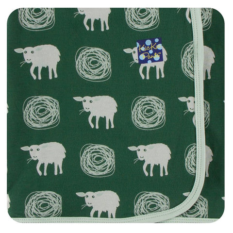 Topiary Tuscan Sheep Swaddling Blanket