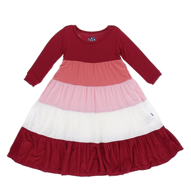 Candy Apple English Rose Tiered Dress